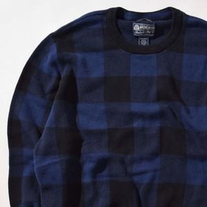 【Lサイズ】AMERICAN RAG アメリカンラグ Block Check Sweater ブロックチェックセーター BLU ブルー L 400604191231