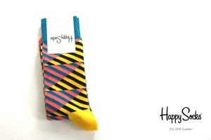 ハッピーソックス|happy socks|クルー丈カジュアルソックス|ダイアゴナルストライプソックス|DIAGONAL STRIPE|10113009