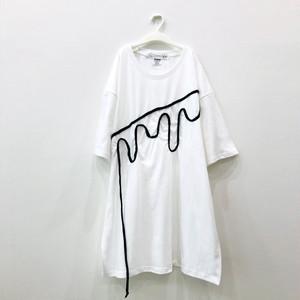 ビッグシルエットTシャツ(溶けちゃった)White×Black