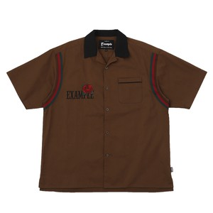 EXAMPLE ROSE BOWLING S/S SHIRT / BROWN
