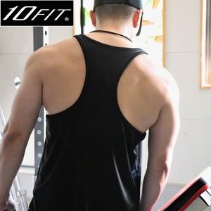10FIT タンクトップ トレーニング 筋トレ ボディビル メンズ TE-21 黒
