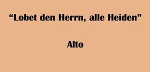 """アルト用 """"Lobet den Herrn, alle Heiden"""" BWV 230 Karaoke for Alto"""
