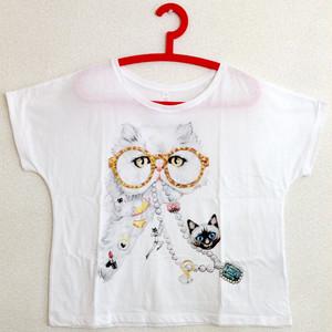 ドルマンTシャツM「おしゃれ泥棒」(ホワイト) t 03