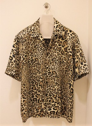 FAMILY FIRST MILANO Open-collared Leopard Shirts