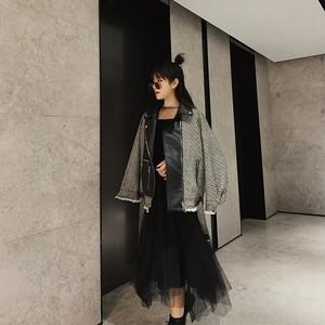 tweed mix material jacket