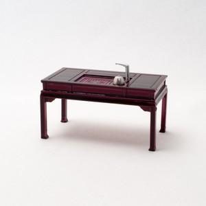中国風ミニチュア家具/茶卓(樹脂製)
