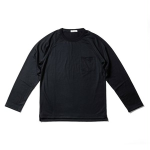 WOOL-LONGSLEEVE-Tshirt ブラック