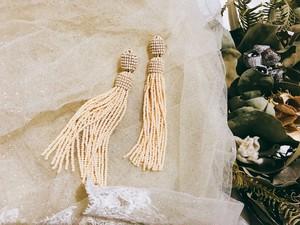 Tassel dress《マットベージュ》