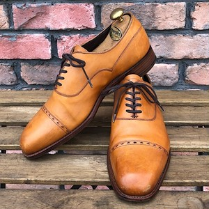 Grenson Cap Toe Shoe Made in Northampton England UK7.5