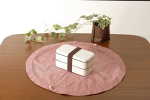 お弁当袋になっちゃう!!ランチクロス☆ 丸型 麻混 Lサイズ RED/NAVY/BROWN