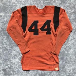 50's Badger Sporting Goods Co レーヨン フットボールシャツ Spaujiau オレンジ ブラック ヴィンテージ 9分袖 40 希少