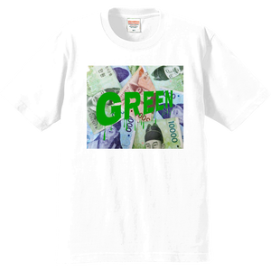 WHITE GREEN T-SHIRT