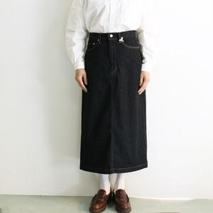 D.M.G(ドミンゴ) サンフォーキンデニム ロングスカート 17-439B 後ろスリット定番スカート