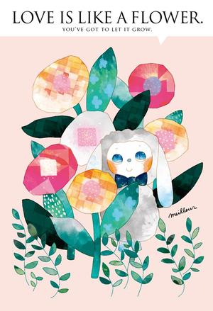 ポストカード「花の影からこんにちは」