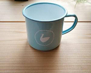 ホーロースワンマグカップ