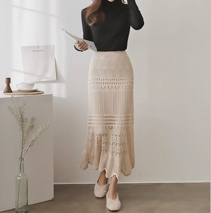 middle braid knit skirt 2color