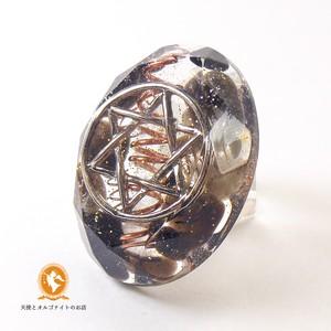ミニオルゴナイト 六芒星 ダビデの星 モリオン 黒水晶 cm1020hexmol00030