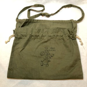 "3-Way Red Cross Bag, O.D.Green ""The Army Sucks"""