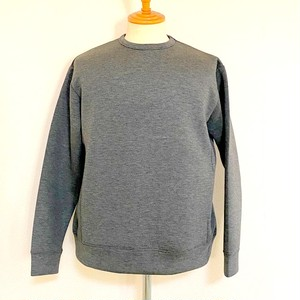 Double Knit Crewneck Sweat Pullover Charcoal