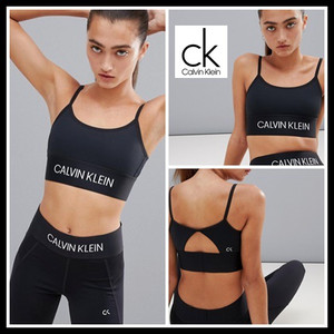 Calvin Klein Performance Modular Strappy Sports Bra in black