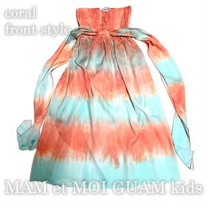 KID Tie-dye Bare Maxi dress