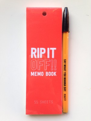 RIP IT OFF / MEMO BOOK / LIXTICK