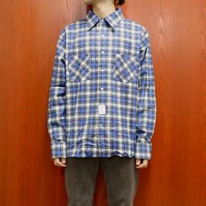 Dead Stock 70's MONTGOMERY WARD print flannel check shirt