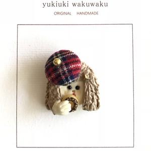 yukiuki wakuwaku ハッ!とGIRL 片耳ピアス/ チェック帽子