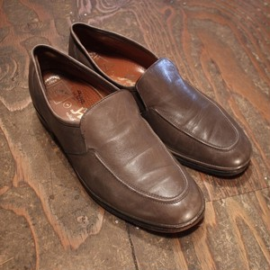 Gray Beige Leather loafers