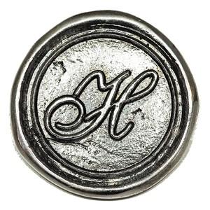 シーリングイニシャル LL 〈H〉 シルバー / コンチョボタン
