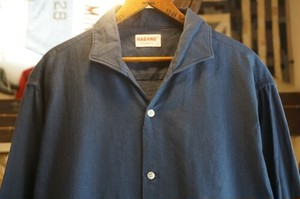 50's HABAND cotton shark-collar Shirt