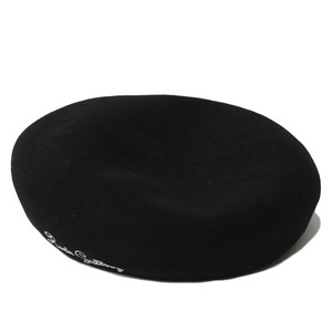 LOGO EMBROIDERED WOOL BERET (BLACK) / RUDE GALLERY