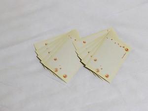 【メッセージカード】泡(黄色)