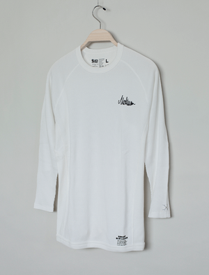 MEDIUM THE BRAND × BLUCO RAGLAN SLEEVE THERMAL-SHIRT / OFF WHITE