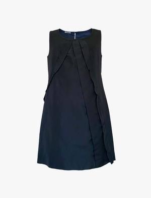 ミュウミュウ レディース ノースリーブ ワンピース ドレス ネイビー 38(S~MOS) miu miu
