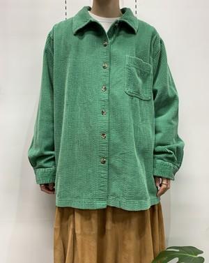 L.L.Bean corduroy shirt green 【XL-REG】