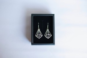 Himmeli Decahedron Jewelry - Pierce/ Earring (Silver color)