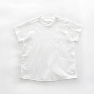 1dozen オーガニックコットン天竺×布帛 ポケットTシャツ Off White