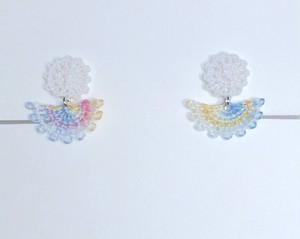 itoboiシリーズ『綿菓子海月』(わたがしくらげ)[イヤリング]