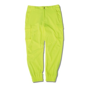 JERSEY CARGO PANTS / NEON YELLOW
