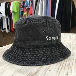 『Sample』 デニムバケットハット ブラック