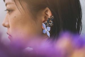 【イヤリング】3way Flowers