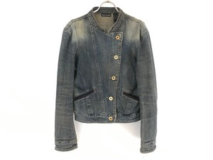 """DKNY JEANS""  irregular-collar denim jacket"