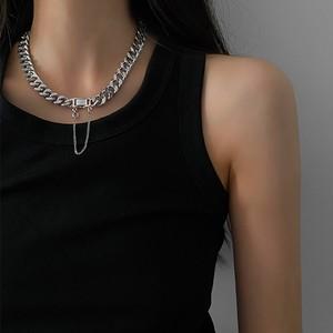 【小物】ファッションストリート系シンプルチタン鋼ショートネックレス41583590