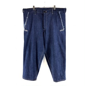 YOHJI YAMAMOTO POUR HOMME WIDE DENIM TROUSERS WITH DRAW CODE