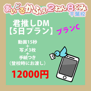 ☆きみ推しDM☆【5日プラン】プランC 動画15秒+写メ3枚+手紙