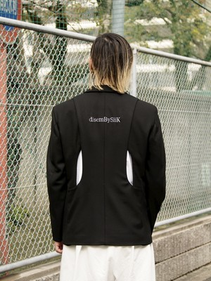 【予約アイテム】disemBySiiK BACK DETAIL JACKET black