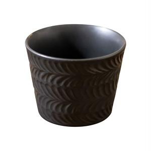 波佐見焼 翔芳窯 ローズマリー マルチカップ 約8cm 200ml マットブラック 33386