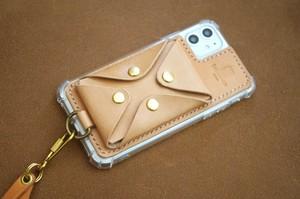 【受注製作】本革サドルレザースマホ背面マルチケース iPhone11promax ケース他 全種類機種対応