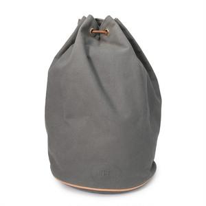 HERMES/エルメス ポロションミミル 巾着ショルダーバッグ グレー×ブラウン(P14137)